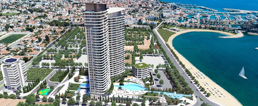 продажа апартаментов комплексе limassol blu marine Кипр
